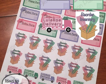 LulaRoe Consultant Planner Stickers Glossy or Matte made for Erin Condren Happy Planner Kate Spade 2016-2017