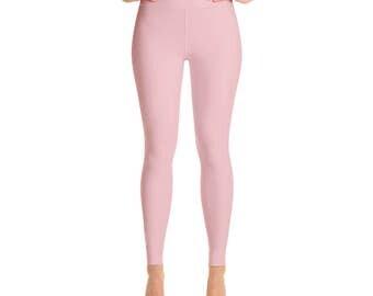 Tea Rose Leggings - Pink Leggings for Women, High Waisted Yoga Pants