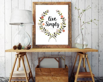 Live simply decor etsy for Live simply wall art