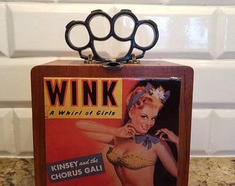 Pin up Girl cigar box purse