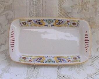 Deruta Italian Pottery Platter Raffaellesco