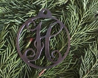 Monogram Steel Emblem Ornament
