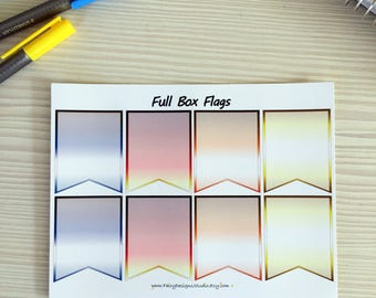 Full Box Page Flags Planner Stickers