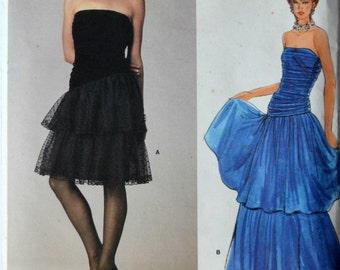 Uncut 1980s Vogue Vintage Sewing Pattern 1623, Size 10; Misses' Dress
