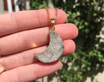 Angel Aura Moon Gold Necklace