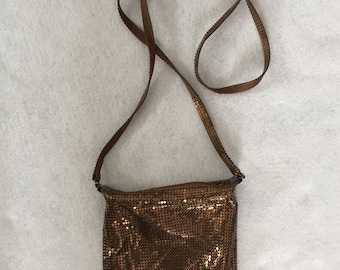Whiting and Davis Brass-look Mesh Purse