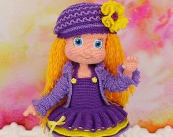 Violetta - Handmade crochet doll