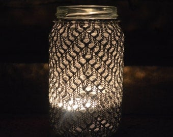 Silver Knitted Lantern