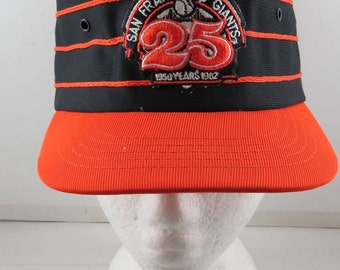 San Francisco Giants Pill Box Hat (VTG) - 25 Anniversary - Adult Snapback