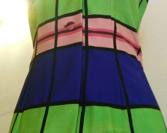 Vintage dress , madeinitaly , skirt and Short, colors, 60s
