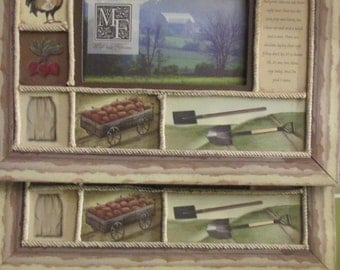photo frames set of 3 farm themed country style distressed picture frames 8 x 10 overall for 3 x 5 photos 3 for one price