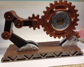 Steam Punk Industrial Desk Clock