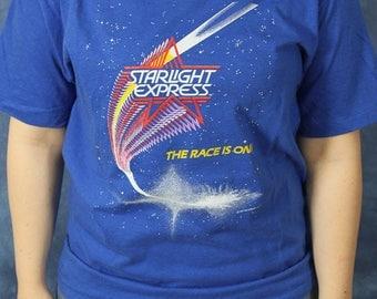 Vintage 1987 Starlight Express T-Shirt // Andrew Lloyd Webber // Rock Musical // Broadway Tee Shirt