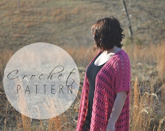 CROCHET PATTERN | Lacy Kimono | The Ingrid | Boho | Wrap | Cardigan | Summer Sweater | Poncho | Crochet