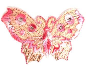Butterfly applique, 1930s vintage embroidered applique. Vintage patch, sewing supply. Applique, Crazy quilt. #647G100K5