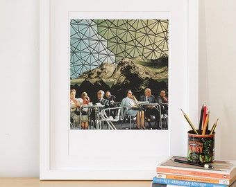 Collage Art. When we are older. Art Print. A5 to A2 Wall Art. Collage Print. Collage design. Giclee Print. Large Wall Art.Geodesic.