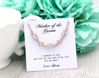 Wedding Necklace Rose gold plated Zirconia Necklace Bridesmaid necklace Bride Bridesmaid Gift Wedding Necklace Bridal Necklace Jewelry leaf