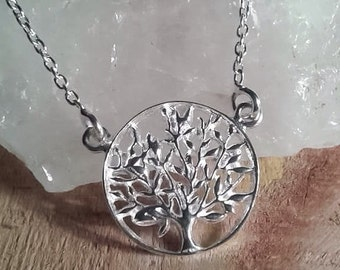 Sterling Silver Tree of Life pendant necklace / Tree of Life talisman / Silver Tree of Life / Small Tree of Life necklace