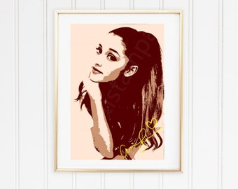 Ariana Printable Art with signature