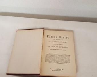 Edmond Dantes, Sequel to The Count of monte Cristo, Antique Book, Antique Dante, Collector Dante book, Rare Dante book,