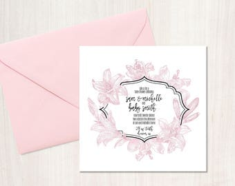 Lily Baby Shower Invitation