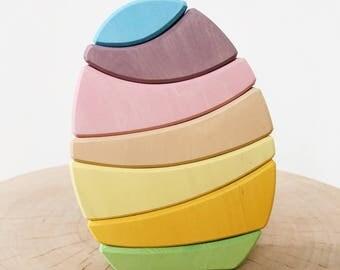 Stacking Egg Toy Pastel