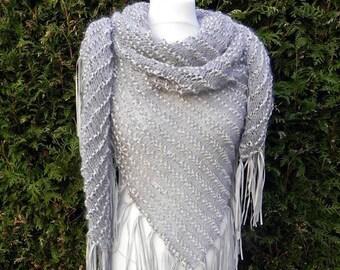 elegant shawl scarf fringe LEDERlook stoles