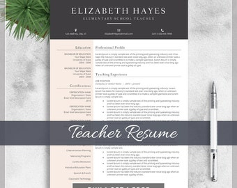 teacher resume template cv template for ms word creative professional teacher resume design with - Free Resume Template For Teachers
