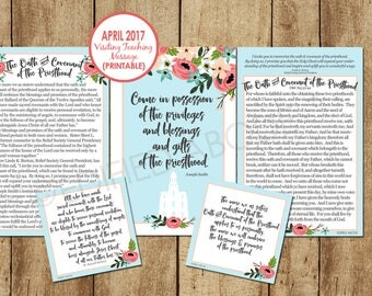 April 2017 Visiting Teaching Message--DOWNLOAD INSTANTLY