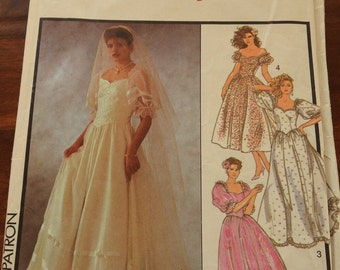Style 4718 Women's Vintage Elegant Wedding Dresses For The Bride And Bridesmaids Sewing Pattern