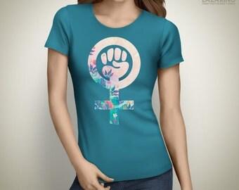 Feminist Raised Fist - Womens Rights feminist t-shirt, nasty women t shirts, feminism shirt, feminist tee, the future is female