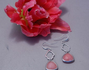 Jasmine earring peach pink