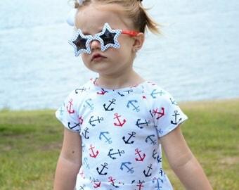 Baby Anchor Peplum Shirt, Toddler Anchor Peplum Shirt, Baby Peplum Shirt, Toddler Peplum Shirt