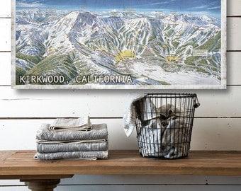 Kirkwood Ski Resort On Canvas Vintage Ski Resort Canvas Sign Canvas Home Decor