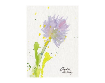 Chives I - Watercolor ACEO Original