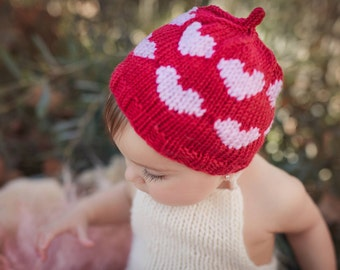 SALE Valentines Gifts for Kids, Valentines Hat, Sitter Hat, Heart Hat, Baby Girl Prop, Baby Photography Prop