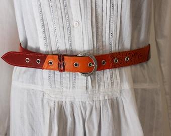 Orange and plum belt
