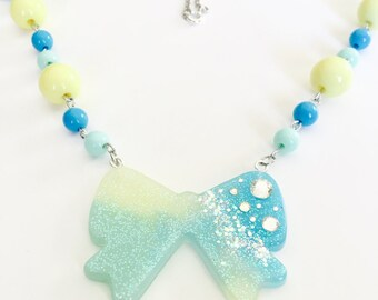 Sparkle Bow Necklace
