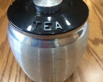 Vintage Kromex Spun Aluminum Tea Canister