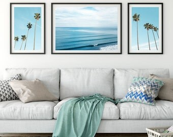 Set Of 3 Prints, Tropical Print Set, Palm Print, Palm Poster, Palm Tree Print, Palm Photography, Palm Digital Print, Triptych
