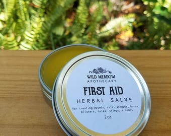 First Aid Herbal Salve || cuts, wounds, bites, & burns