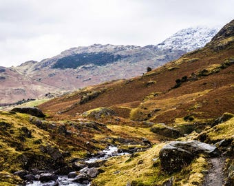 Lake District - Mountain Photography - Landscapes - Wilderness - Snow - Nature Photography - National Park - The Path Down - 0083