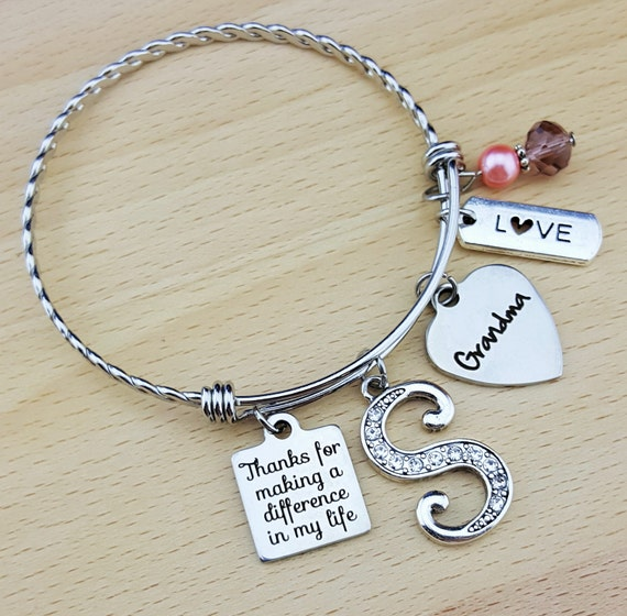 Gifts for Grandma Gift for Grandmother Gifts for Grammy Grandma Gift Grandma Bracelet Grandma Jewelry Grandmother Gift Personalized Bracelet