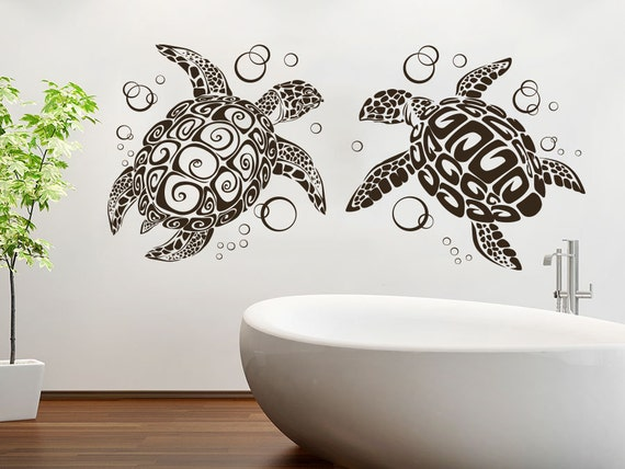 sea turtle wall decal ocean animals decals wall vinyl sticker. Black Bedroom Furniture Sets. Home Design Ideas