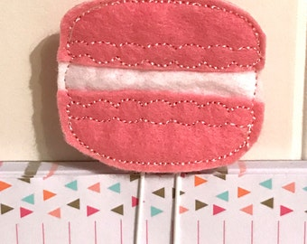 "Sweet little Feltie - Paperclip, Bookmark ""Macaron"""