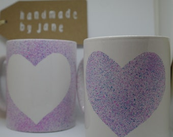 Hand painted mugs (set of two)