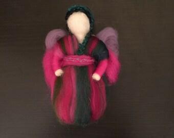 Lilli - wool fairy, needle felted, Waldorf Inspired Wool Fairy, wool fairy ornament, decor
