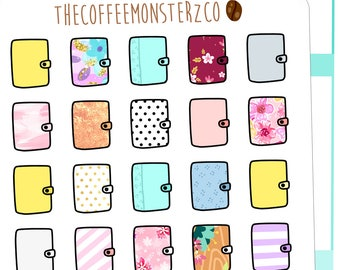 patterend planners - hand drawn planner stickers C036