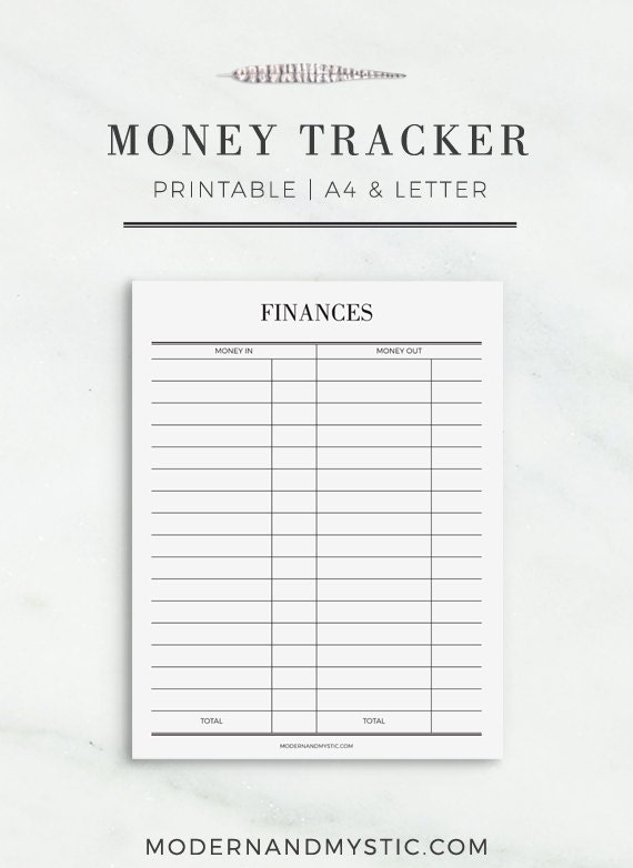 Playful image within money tracker printable
