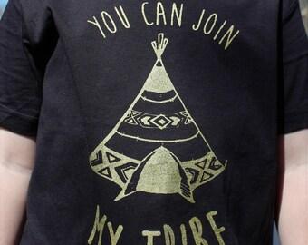 Tepee t-shirt, friendship t-shirt